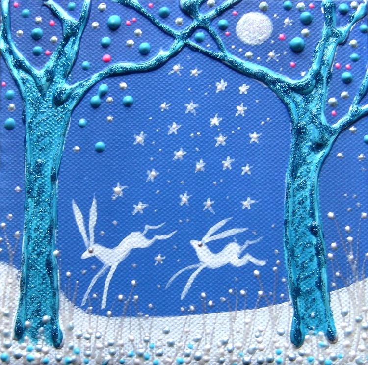 Dancing Hares - Image 0