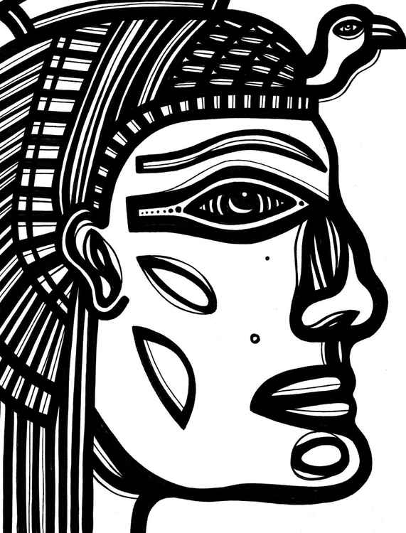Egypt Royalty Original Drawing -