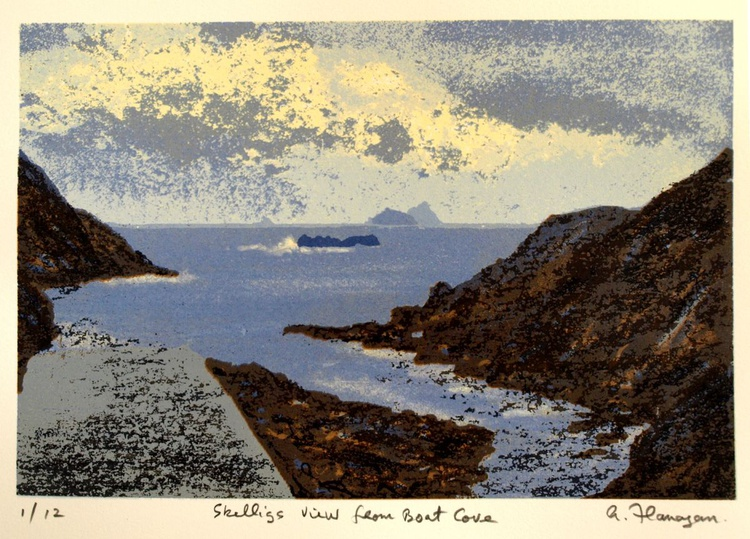 Skelligs View from Boat Cove - Image 0