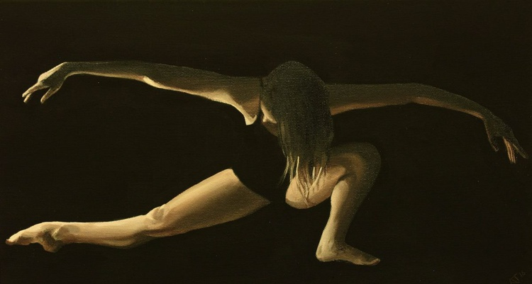 Dancer in the Dark Vol 2, Contemporary Ballerina Painting - Image 0