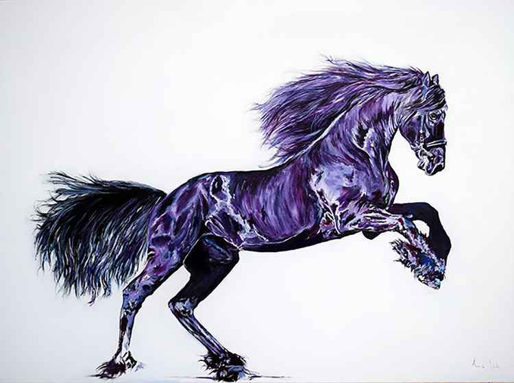 Glorious / Horse painting Large/ Modern Equine Contemporary
