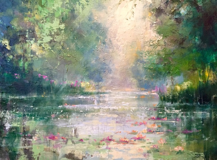 'Pond and Lilies' - Image 0