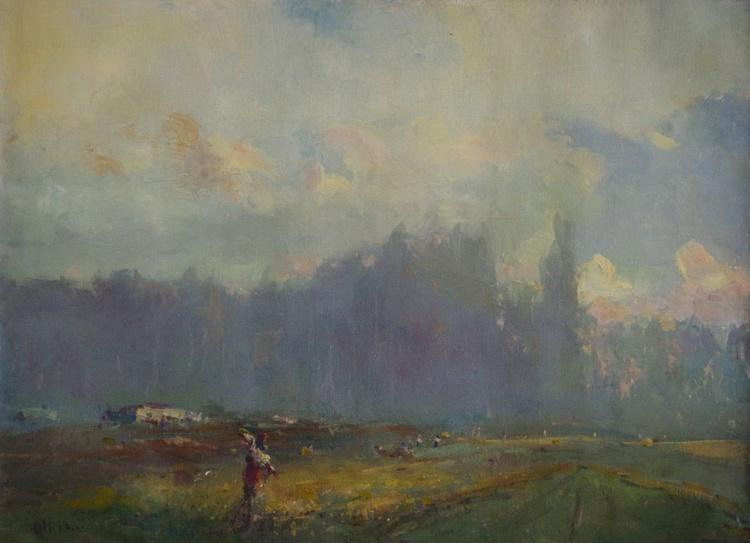 Landscape Summer Time Original oil Painting, Impressionism, Signed, One of a Kind - Image 0