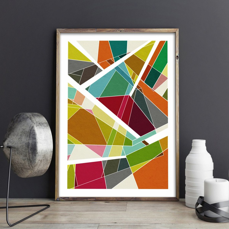 Reflections No.3 Abstract Geometric Limited Edition Prints - Image 0