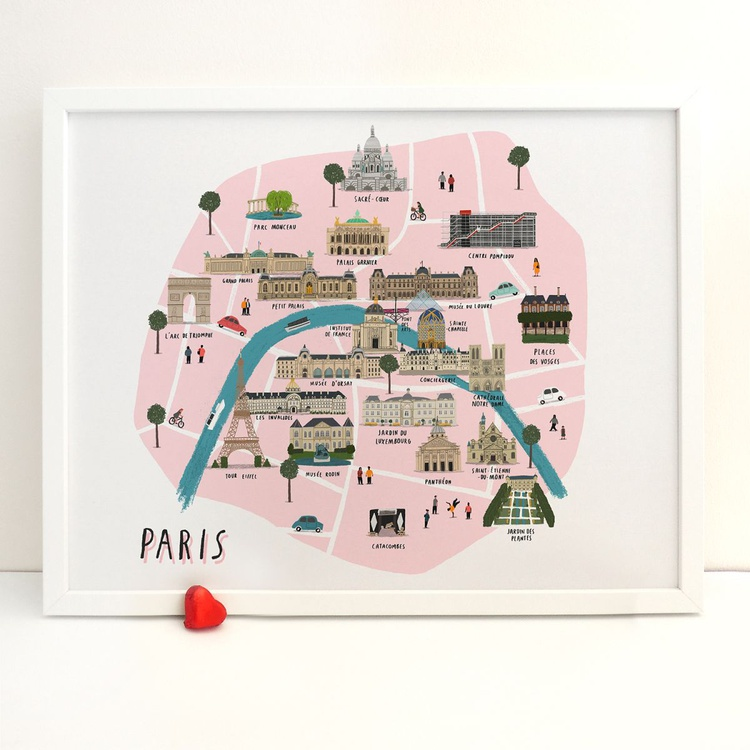 Paris map print - Large - Image 0