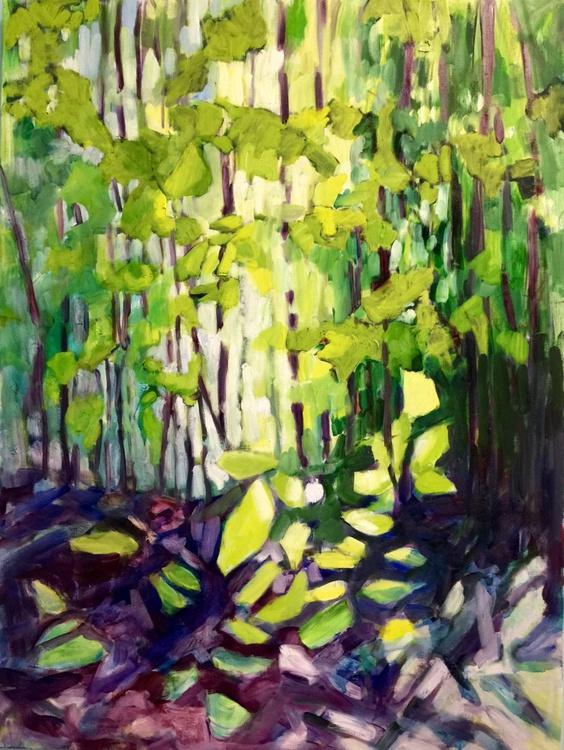 Spring Forest II, Large Impressionist Landscape Painting - Image 0