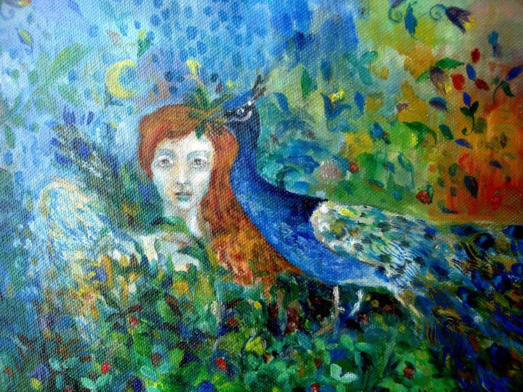 Angel of summer - oil on canvas painting - Image 0