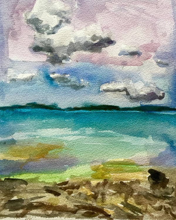 Water color: Caribbean Sunset - Image 0