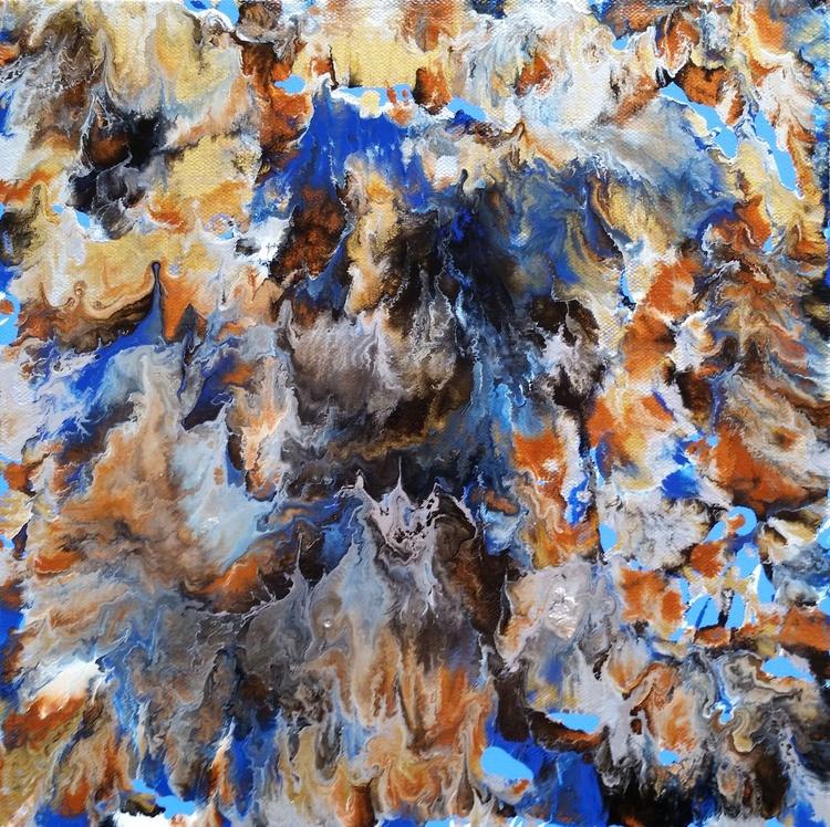 """Fluid Waves"" Original Abstract Fluid Painting - Image 0"