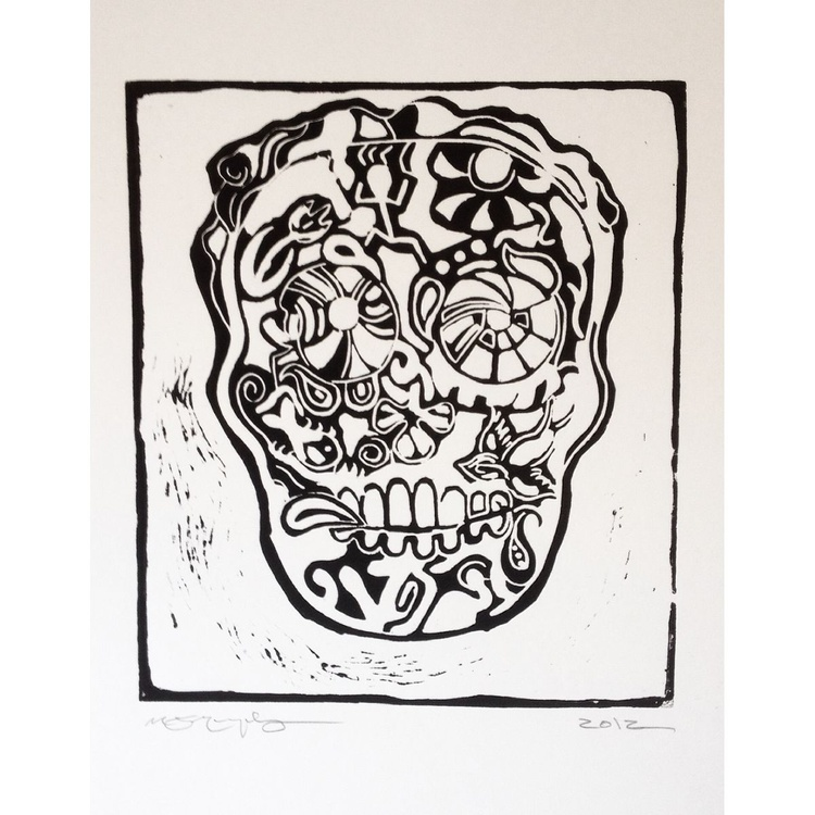 'Sugar Skull Self-Portrait' - Image 0