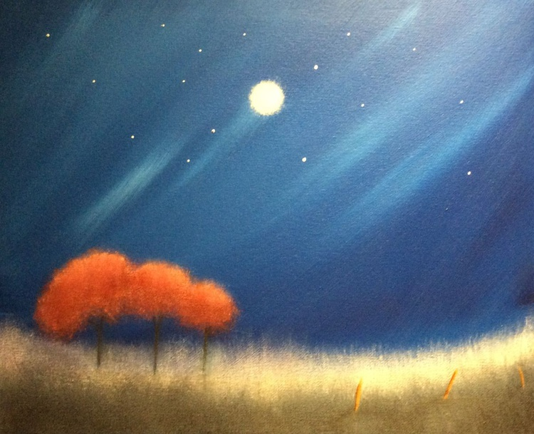 """ countryside Autumn night "" - Image 0"