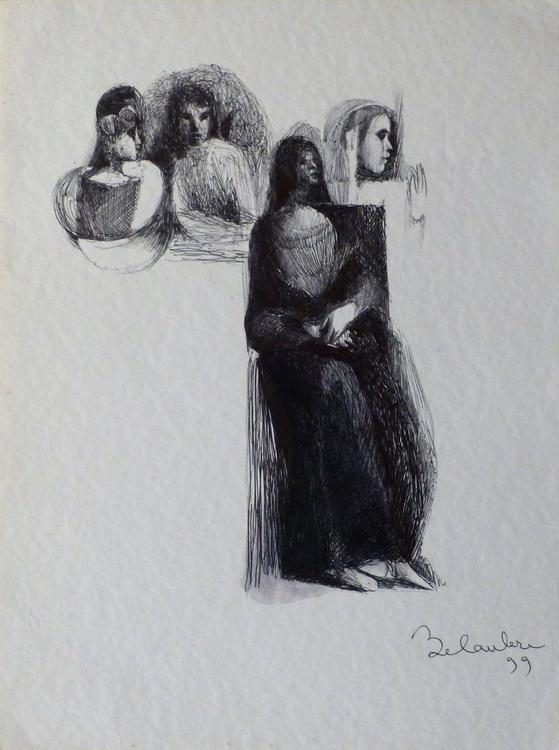 Surrealist drawing 16, 30x40 cm - Image 0