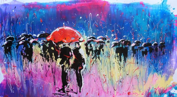 Rain music, 40x71 cm - Image 0