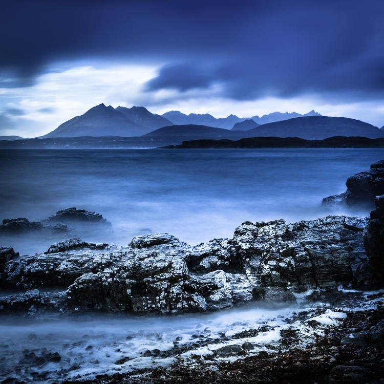 The Black Cuillin  - Ready to hang canvas 28 x 28 inch Limited Edition No 4/25 - Image 0