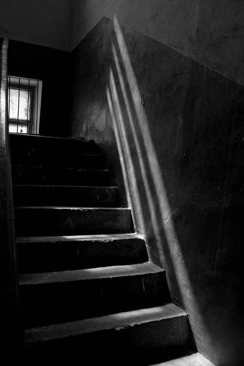 Ladder in the old house -