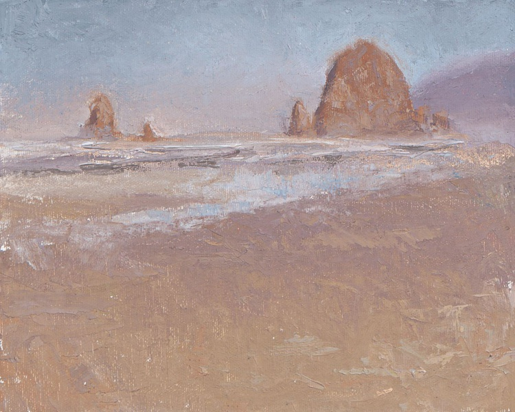 Coastal Escape - Cannon Beach Oregon Plein Air Painting - Image 0
