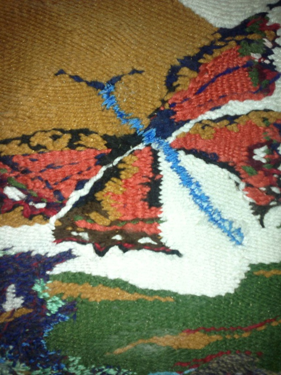 Sunrise  on  the  wings of  the  butterfly (Textile art) - Image 0