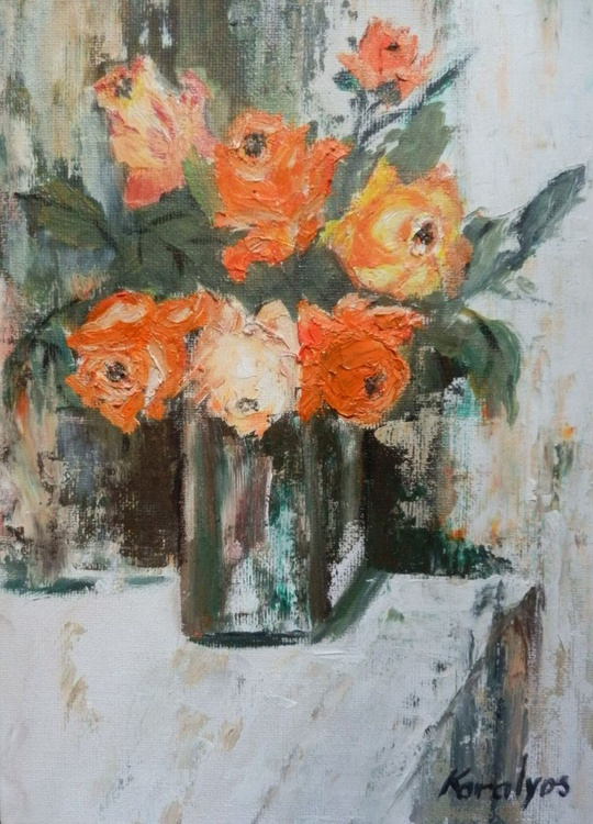 Roses in a vase - Image 0