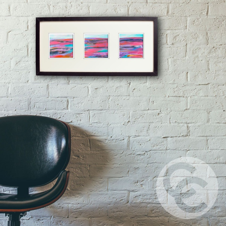 Set of 3 Mini Abstract Landscapes - Image 0
