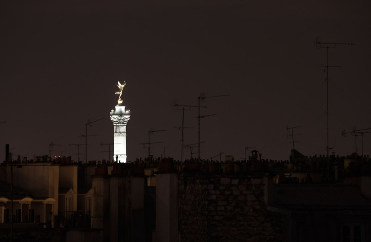 Chimneys, Aerials and the Bastille, Paris, France - Image 0
