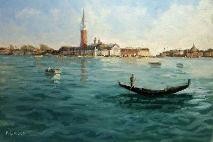 Gondola on the Venetian Lagoon -
