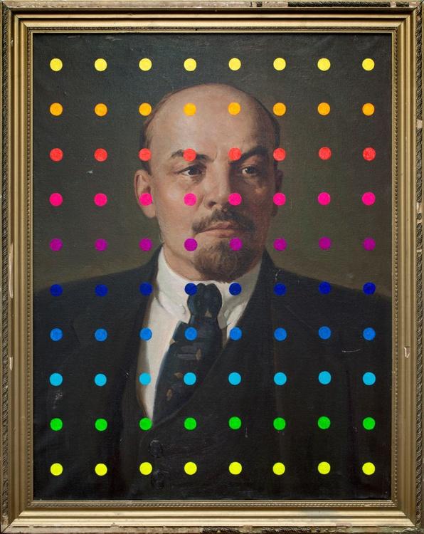 Lenin with Сolored Сircles - Image 0