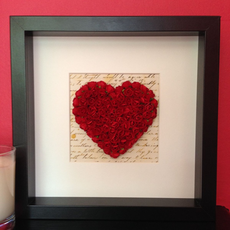Old letter of Love, 2014 Heart of Roses - Image 0