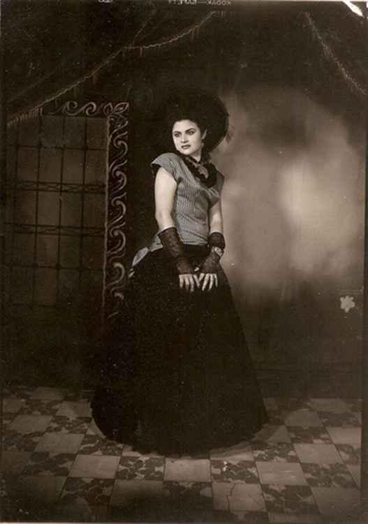 Camerina, Bridesmaid, 1949 • Herminio Lopez, Foto Estudio Viena, Jalisco, Mexico • Silver Rag Print