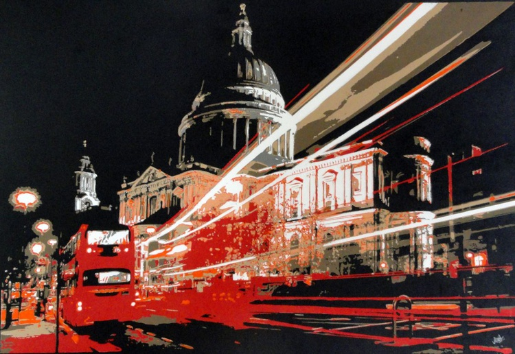 St. Pauls with Red Bus - Image 0