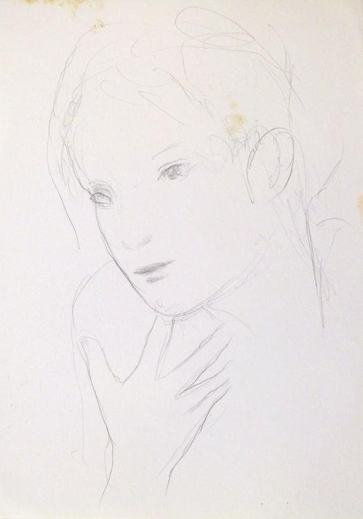 Classical pencil portrait 2, 21x29 cm - Image 0