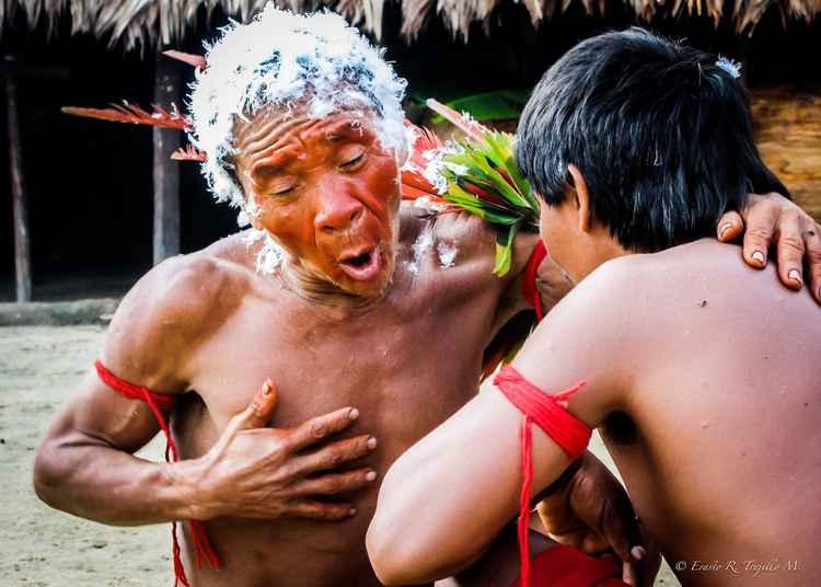 Chief Yanomami Indians - Amazon Rainsforest - Brazil 2007