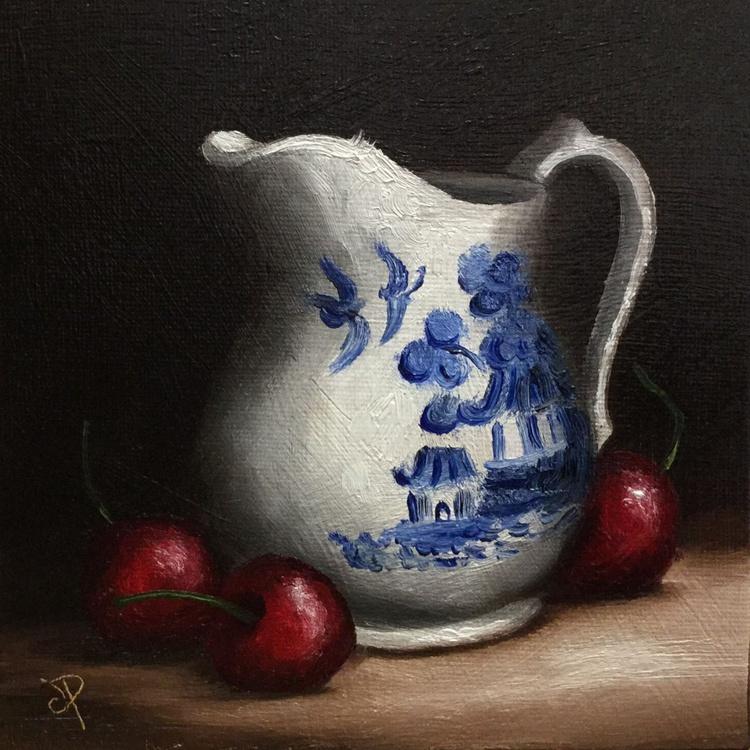 Cream jug with Cherries - Image 0
