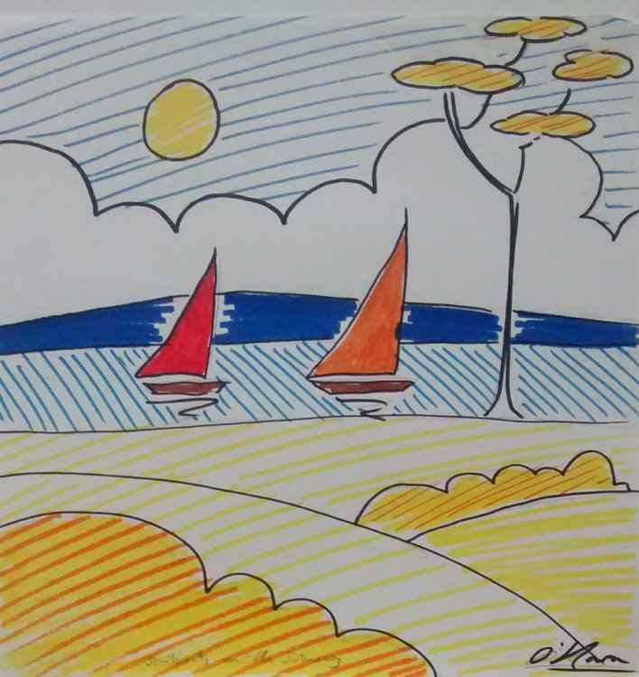 Solway with sailboats. -