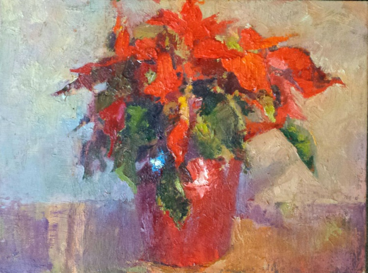 Poinsettia in Red Foil - Image 0