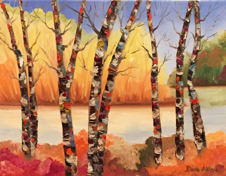 Birches By The Silver Lake - Image 0