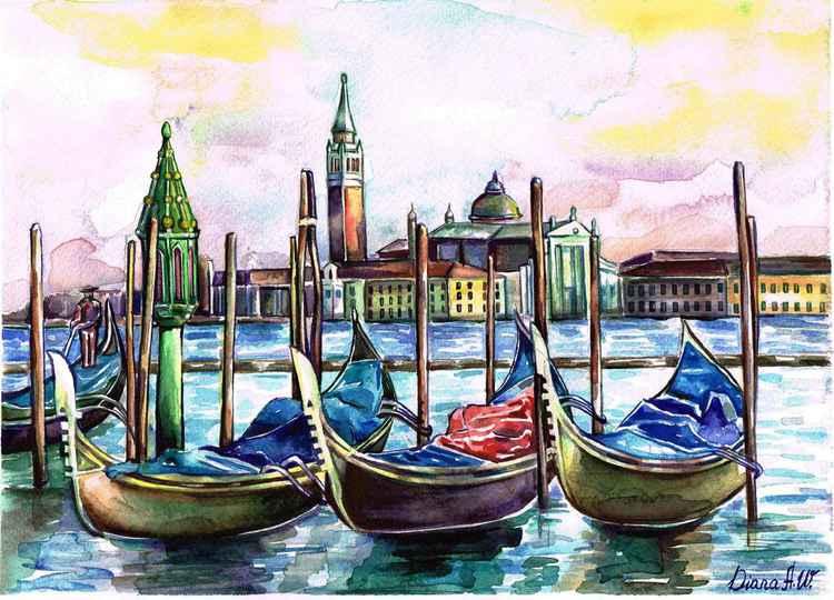 Venice, Gondola, Laguna -