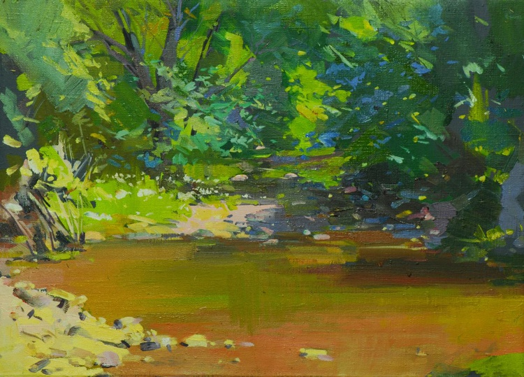 "Summer Painting, "" Green Day "" - Image 0"