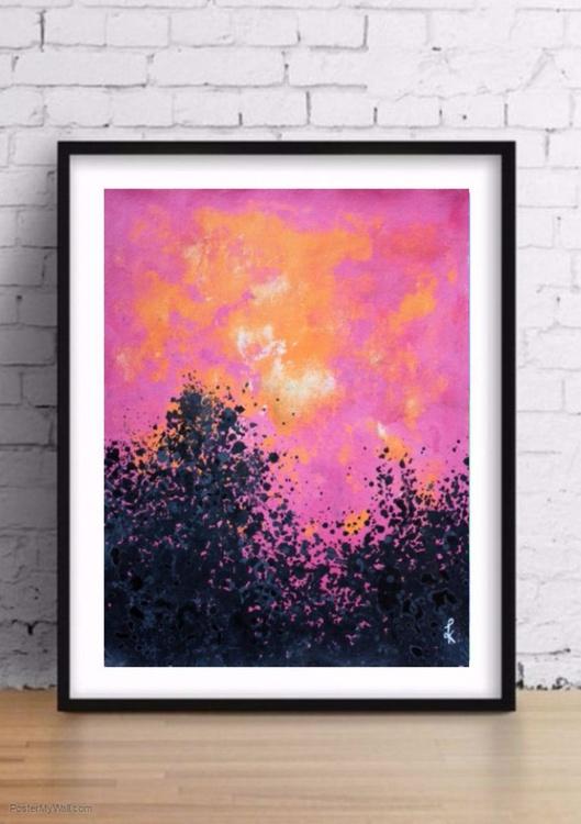A pink evening landscape - Image 0