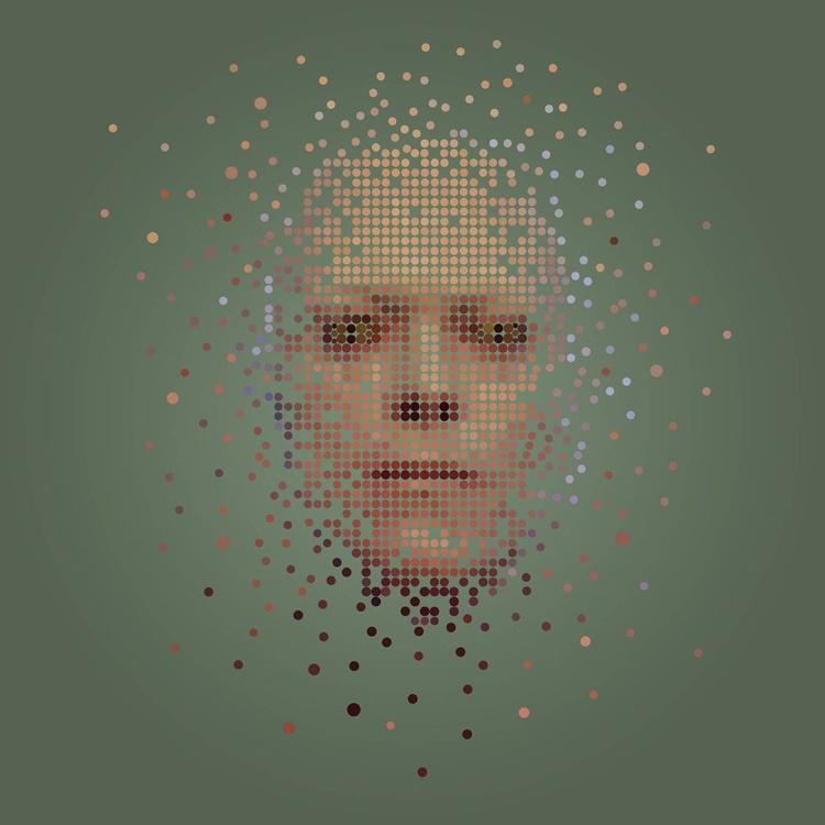 Stardust, (David Bowie Portrait) 24 inch Square Edition of only 6 - Image 0