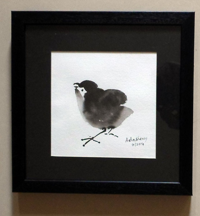 The Cute Chick 2- Chinese Ink painting - Image 0