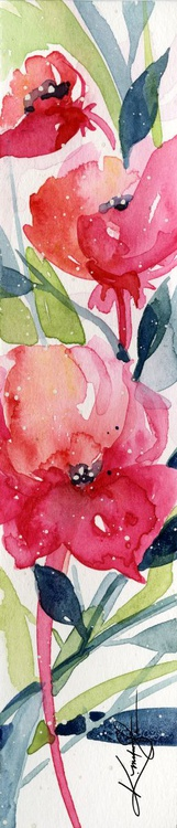 Itsy Bitsy Blossoms 6 - Original Tiny Watercolor - Image 0