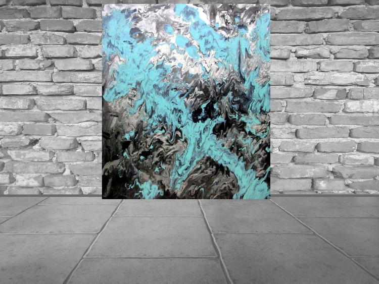 Watching over You - Large abstract painting- free shipping in Europe - Image 0