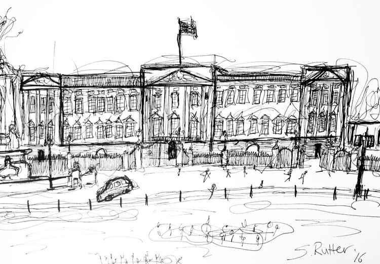Buckingham Palace Sketch -