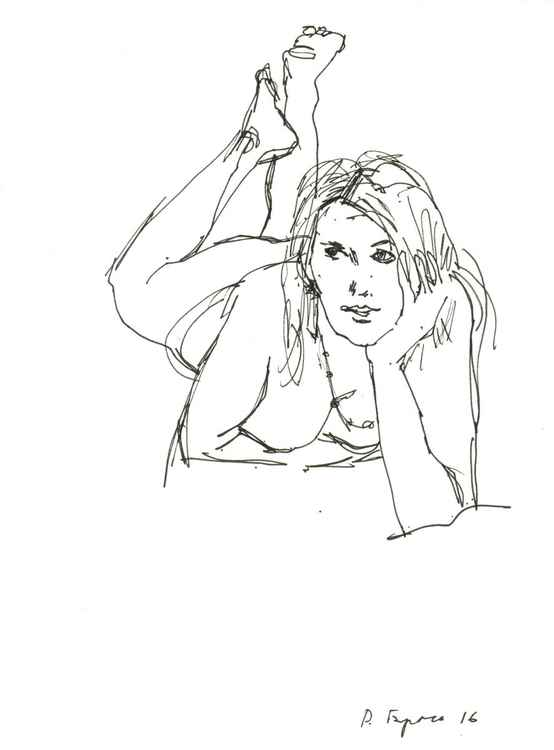 Watching...(sketch) -