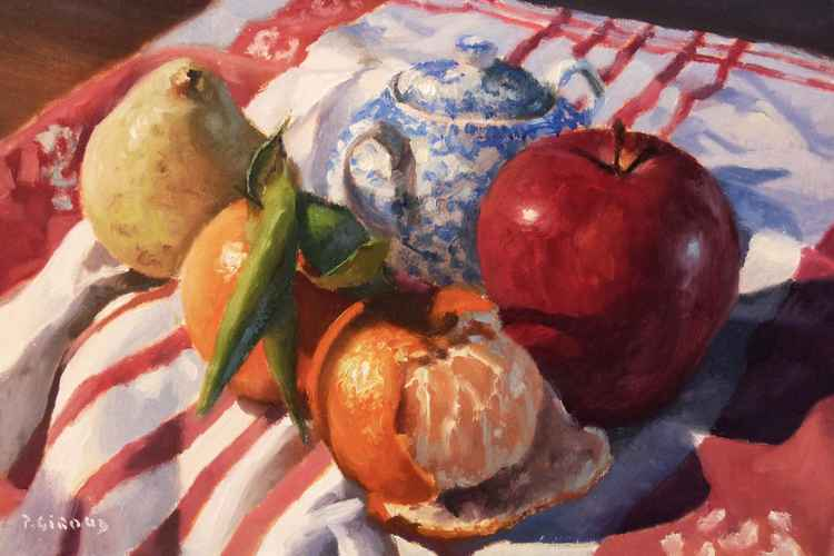 Apple on a Cloth -