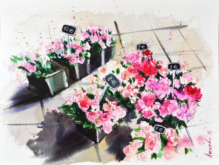Peonies at the Market - Image 0