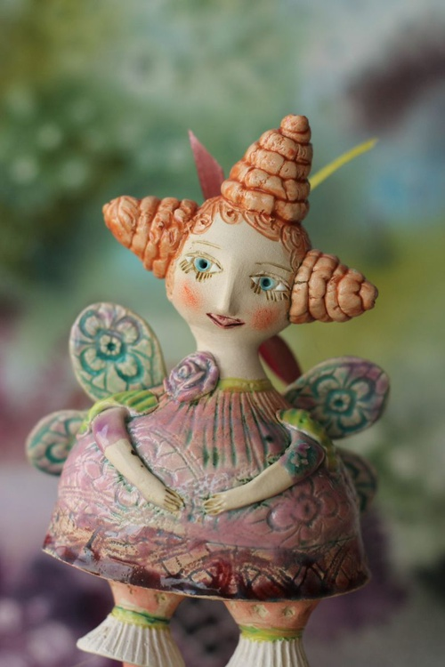 Peaseblossom - fairy from the Midsummer Night's Dream Ceramic illustration project by Elya Yalonetski - Image 0