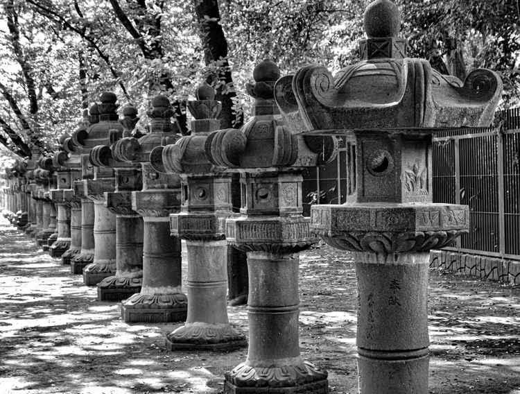 Ueno Park Stone Lanterns  -