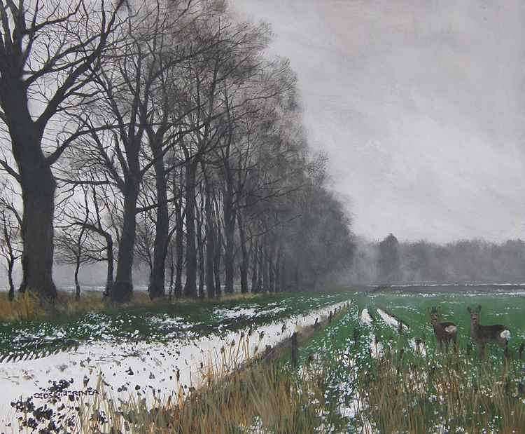 The last snow. -