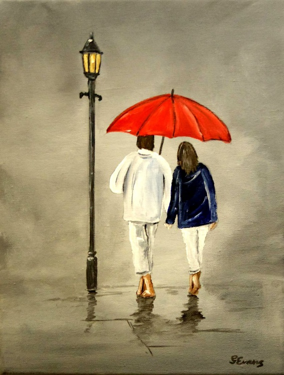 Barefoot in the rain. - Image 0